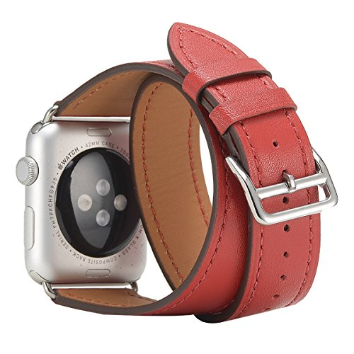 apple-watch-band-mrpro-double-tour-bracelet-dermal-loop-watchband-replacement-with-classic-metal-buc