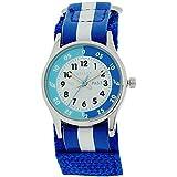 Reflex Time Teacher Blue & White Velcro Strap Boys Girls Children Watch REFK0001