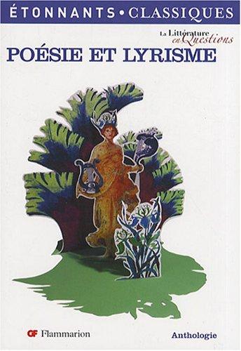 Poésie et lyrisme par Bertrand Darbeau
