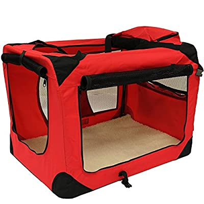 LIVIVO ® Lightweight Premium Dog Cat Puppy Fabric Portable Carrier Folding Crate Cage Pet Travel Foldable Bag
