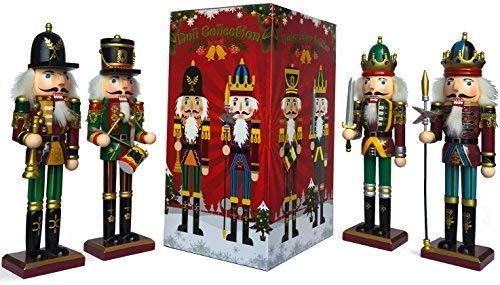Nussknacker Figuren Christbaumkugel Soldat Puppenbaum Geschenkbox Frühling Land 30cm Dekofigur Kollektion Weihnachtsgeschenk 4 Stück Deko Spielzeug Set Kind