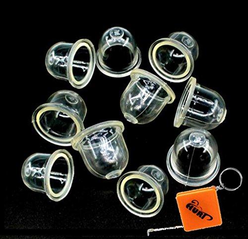 HURI 10x Kraftstoffpumpe Vergaser Primer Birne Pumpe für Kettensäge Motorsägen Blowers Trimmer Freischneider 22mm Ersetzt ZAMA 0057003 / 0057004 / STIHL 4226 121 2700