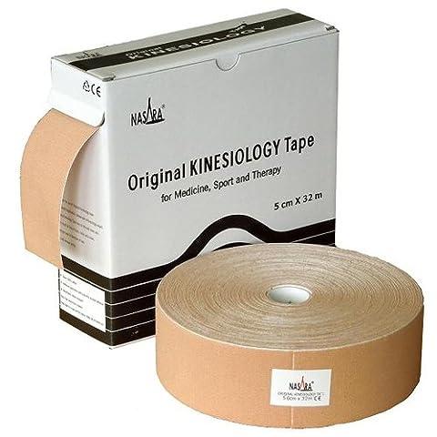Nasara KT3G Original Kinesiology XXL Tape (5 cm x 32 m), Beige