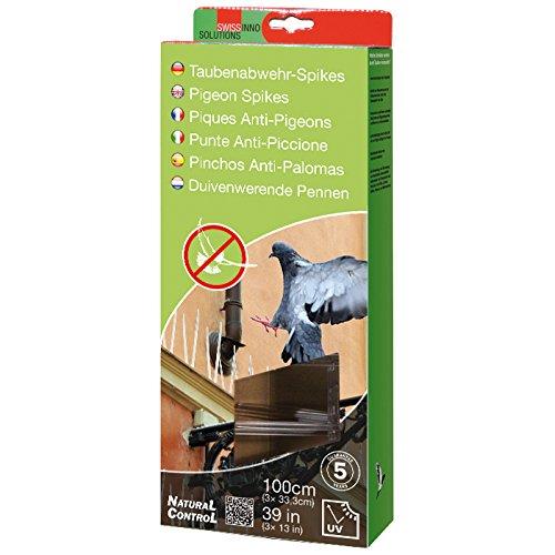 Swissinno 1 723 001KW Natural Control - Pinchos para espantar palomas (100 cm)