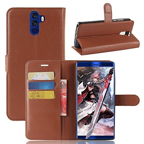 Handyhülle für Doogee BL12000,BL12000 Pro 95street Schutzhülle Book Case für Doogee BL12000,BL12000 Pro, Hülle Klapphülle Tasche im Retro Wallet Design mit Praktischer Aufstellfunktion - Etui Braun