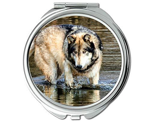 Yanteng Spiegel, Kleiner Spiegel, Mundtaschenspiegel für Tierwolf, 1 X 2X Vergrößerung
