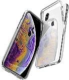 Spigen Coque iPhone XS, Coque iPhone X [Liquid Crystal] Souple, Légère, Ajustement Parfait, Protection aux 4 Coins - [Air Cushion] Compatible avec iPhone XS/X - Crystal Clear Transparente