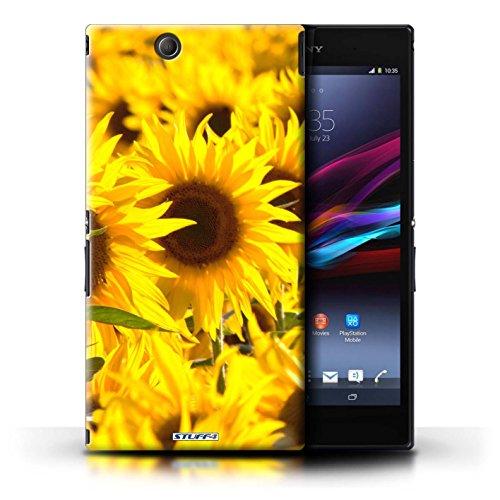 Kobalt® Imprimé Etui / Coque pour Sony Xperia Z Ultra / Blanc Rose conception / Série floral Fleurs Tournesols