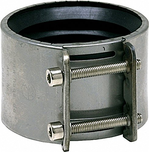 VALSIR OHA-SpannMuffe DN 150 für SML-und Faserzement-Rohre Edelstahl