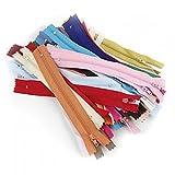 Lot de 100pcs Fermetures à Glissière en Nylon 7 pouces Couture Artisanat (Multicolore)