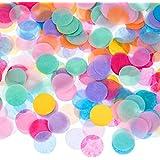 Outus 1 Pouce Confetti Tissu Rond Multicolore, 10000 Pièces