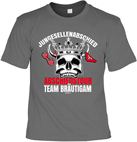 Party/Spaß/Fun-Shirt lustige Sprüche-Shirt/Junggesellenabschied: Junggesellenabschied Abschiedstour Team Bräutigam Anthrazit