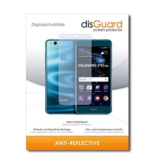 disGuard® Displayschutzfolie [Anti-Reflex] kompatibel mit Huawei P10 lite Dual Sim [2 Stück] Entspiegelnd, Matt, Antireflektierend, Extrem Kratzfest, Anti-Fingerabdruck - Panzerglas Folie, Schutzfolie