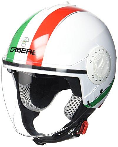 Caberg Casco Jet Riviera V3Italia, negro/blanco/rojo, talla XS