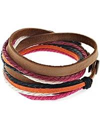 Distressed Bracelet en cuir enroulé