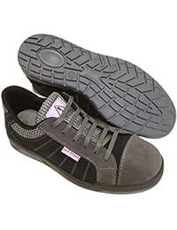 Seba 635gnce Zapato baja, gris/negro S3SRC, talla 42