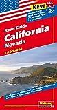 Hallwag USA California Nevada Road Map