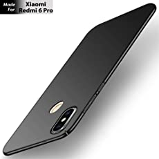 Xiaomi Redmi 6 Pro [2018 Launch] Original back Case Covers ShockProof Hard Stylish Slim 360 degree 3D Protection [Full Coverage] 4 Cut Rubberised Matte Hard Case All Sides Protection Sleek Back Cover for Mi Redmi6 Pro [2018 Launch] (1 YEAR TRUE WARRANTY) (Black) (Black)