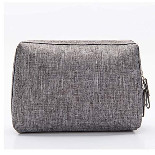 LiKin Cas cosmétique, tissu portatif de polyester de sac de sac de lavage de main de sac de stockage cosmétique de stockage (Couleur : Gray)