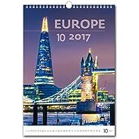 C117-17Kalpa Calendario da Muro 2017Beautiful Europa calendari da parete esclusiva collezione31x 45cm