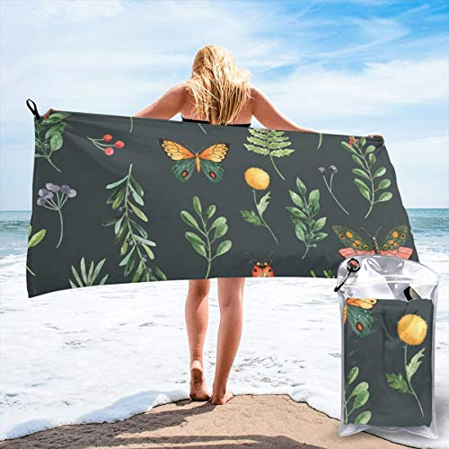 Butterfly Garden Seat (Fun Life Art Fast Quick Dry Towel,Sports & Beach Towel.Butterfly Garden Cape Cod Suitable for Camping, Gym, Yoga,Swimming,Travel,Hiking,Backpacking.)