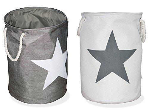 Voß Conjunto 2 Sacos Ropa Sucia diseño Estrella