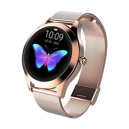 99native Multifunktionsfarbe Waterproof Smart-Uhren,1,04 Zoll TFT-Farbdisplay, wasserdicht IP68/Herzfrequenzmessung, Schlafüberwachung/Erinnerung an den physiologischen Zyklus von Frauen (Gold)