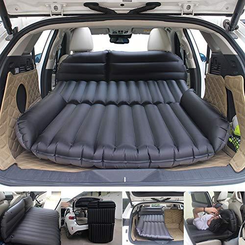 Sinbide Abziehbar Auto Luftmatratzen Luftbett Camping aufblasbare Matratze Isomatte Auto SUV MVP mit Pumpe (schwarz 02)