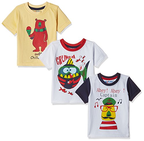 Donuts Baby Boys' T-Shirt (Pack of 3) (400016653687_Assorted_12M)