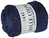 Lang Yarns MILLE COLORI SOCKS AND LACE LUXE, 859.0035 - Marine-Silber