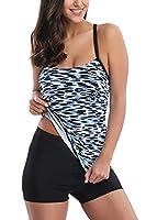 CharmLeaks Womens Tankini Set Swimwear with Shorts Boyleg Swimsuit UV Protection 16
