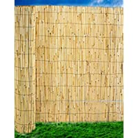 Abaseen Natural Reed Screening Garden Fence Peeled Roll Screen Wind Sun Protractor Privacy Border 1.8mx4m