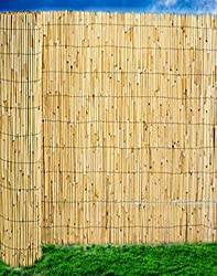 Abaseen Natural Reed Screening Garden Fence Peeled Roll Screen Wind Sun Protractor Privacy Border 1.5mx4m