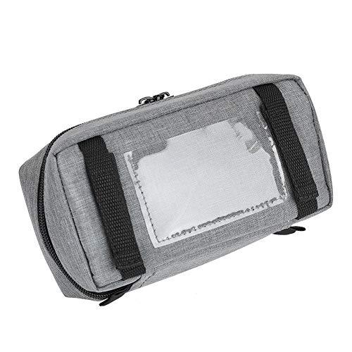51Ojn2ELOmL - Bolsa de refrigeración portátil - insulina nevera viaje caso para la pluma de insulina y suministros para diabéticos inserto de refrigeración para caja plegable(Gray)