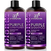Juego de champú y acondicionador púrpura de ArtNaturals, protege, equilibra y tonifica, para