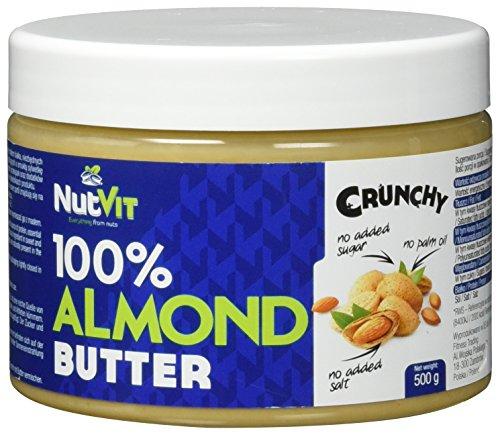 NutVit 100% Almond Butter Crunchy, 1er Pack (1 x 500 ml) (Bits Peanut Butter)