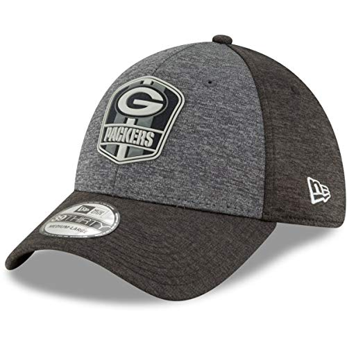 New Era 39Thirty Cap - NFL Black Sideline Green Bay Packers