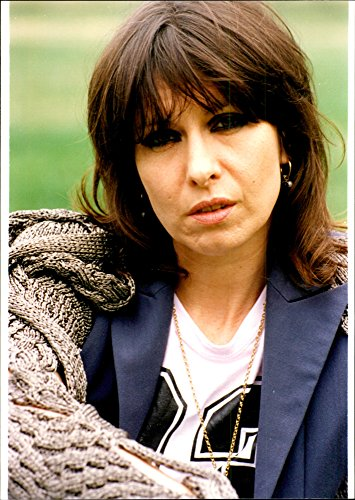 Vintage photo of The singer Chrissie Hynde from the rock band Pretenders