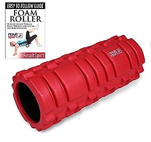 ResultSport® Velocity Grid Foam Roller 34x15cm - Red