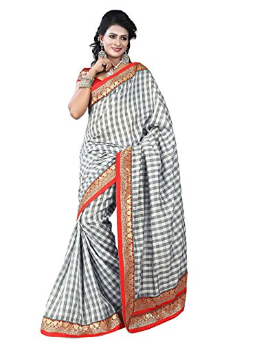 Sarees For Women Party Wear Offer Designer Sarees Silk ( Vibes Women`s Bhagalpuri Art Silk Saree
