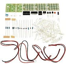 Rishil World DIY CD4017+ne555 Strobe Module Electronics Learning Kit