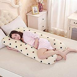 New Akira 70x130cm Maternity Dot design U Shaped Body Pillows For Side Sleeper Removable