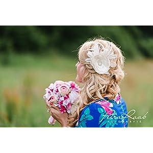 Bestseller Braut Haarschmuck Bridal Wedding haird dress Fascinator Blume L35