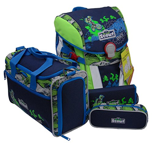 Scout Sunny Set 4-tlg. Schultasche (BMX) (Girl Scouts)