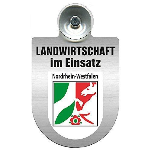 Einsatzschild für Windschutzscheibe incl. Saugnapf - Landwirtschaft im Einsatz - Wappen nach Wahl - 309460 Farbe Region Nordrhein-Westfalen