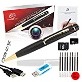 spy pen Kamera, Eternal eye® 1080p versteckte Kamera ohne blinken Lichter Professional Stealth versteckte Kamera Inkl. 16 GB SD, real HD Video, Upgraded Akku & 8 Tinte füllt INC. Executive Multifunktions DVR. Perfekte Geschenk