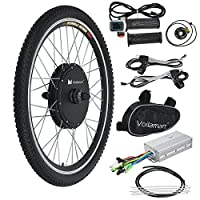 """Voilamart 26"""" Front Wheel 48V 1000W Electric Bicycle Conversion Kit E-bike Cycling Brushless Hub Motor w/ Intelligent Controller Restricted to 250W for on-Road Use"""