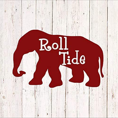 Celycasy Alabama Roll Tide Decal, Alabama Crimson Tide Decal, Sport Car Decal, Sport Decal, Fußball, Elefant, Vinyl-Aufkleber Alabama Crimson Tide Laptop