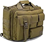 Tacvasen 15 Zoll Laptop-Schultertasche für Herren Outdoor Militärrucksack, Kuriertasche gelb hautfarben