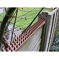 GEEZY 10 Piece Anti Climb Fence Wall Spikes Burglars Cats Birds Repellent Deterrent, 5 Meters